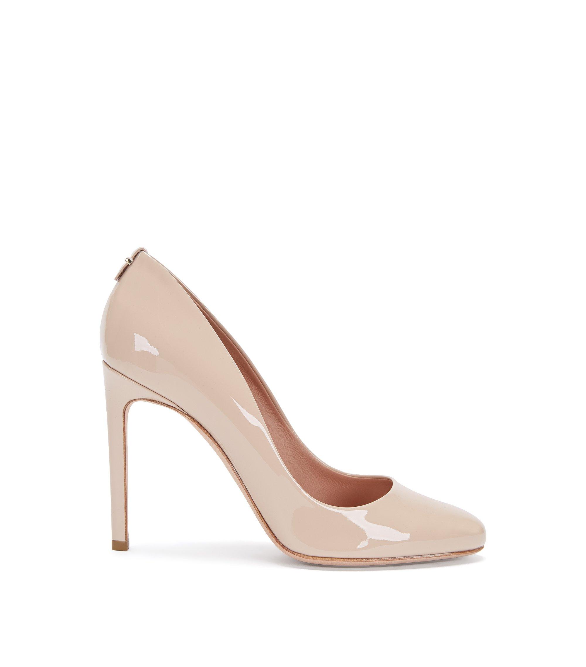 Zapatos de salón de piel con tacón de aguja: 'Staple R100-P', Beige claro