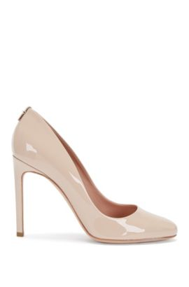 Leather pumps with a kitten heel: 'Staple R100-P', Light Beige