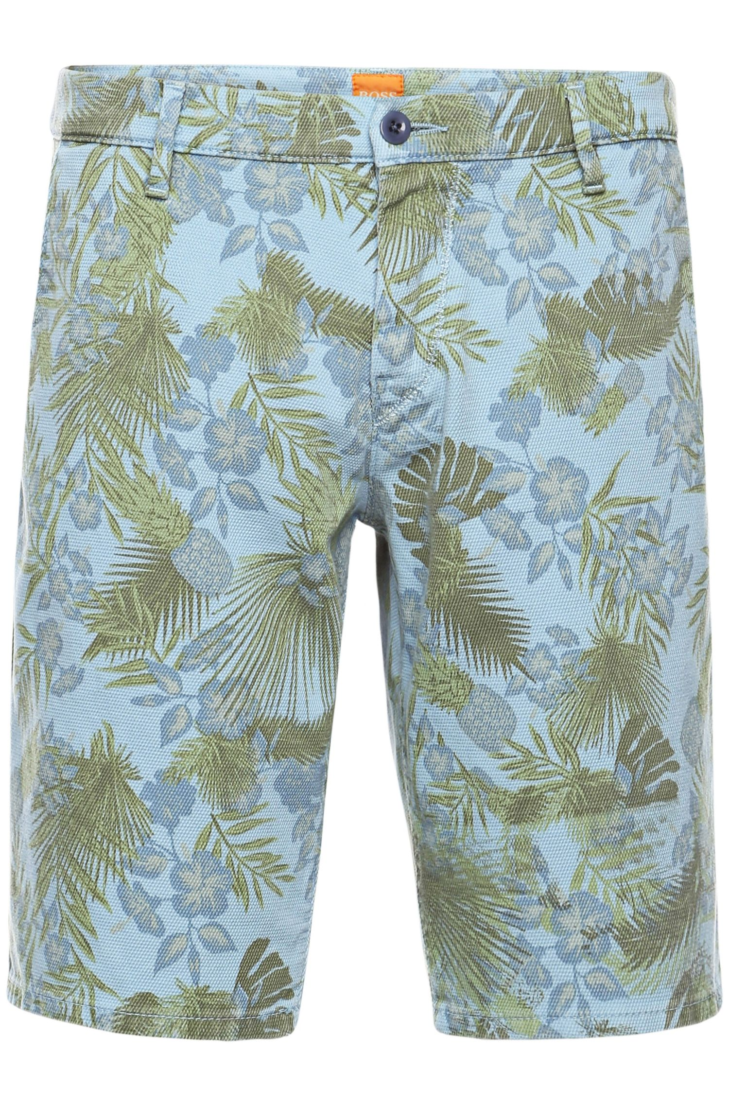 Gemusterte Slim-Fit Shorts aus Baumwoll-Mix: ´Sairy8-Shorts-D`