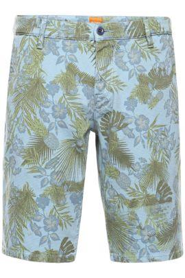 Gemusterte Slim-Fit Shorts aus Baumwoll-Mix: ´Sairy8-Shorts-D`, Hellblau