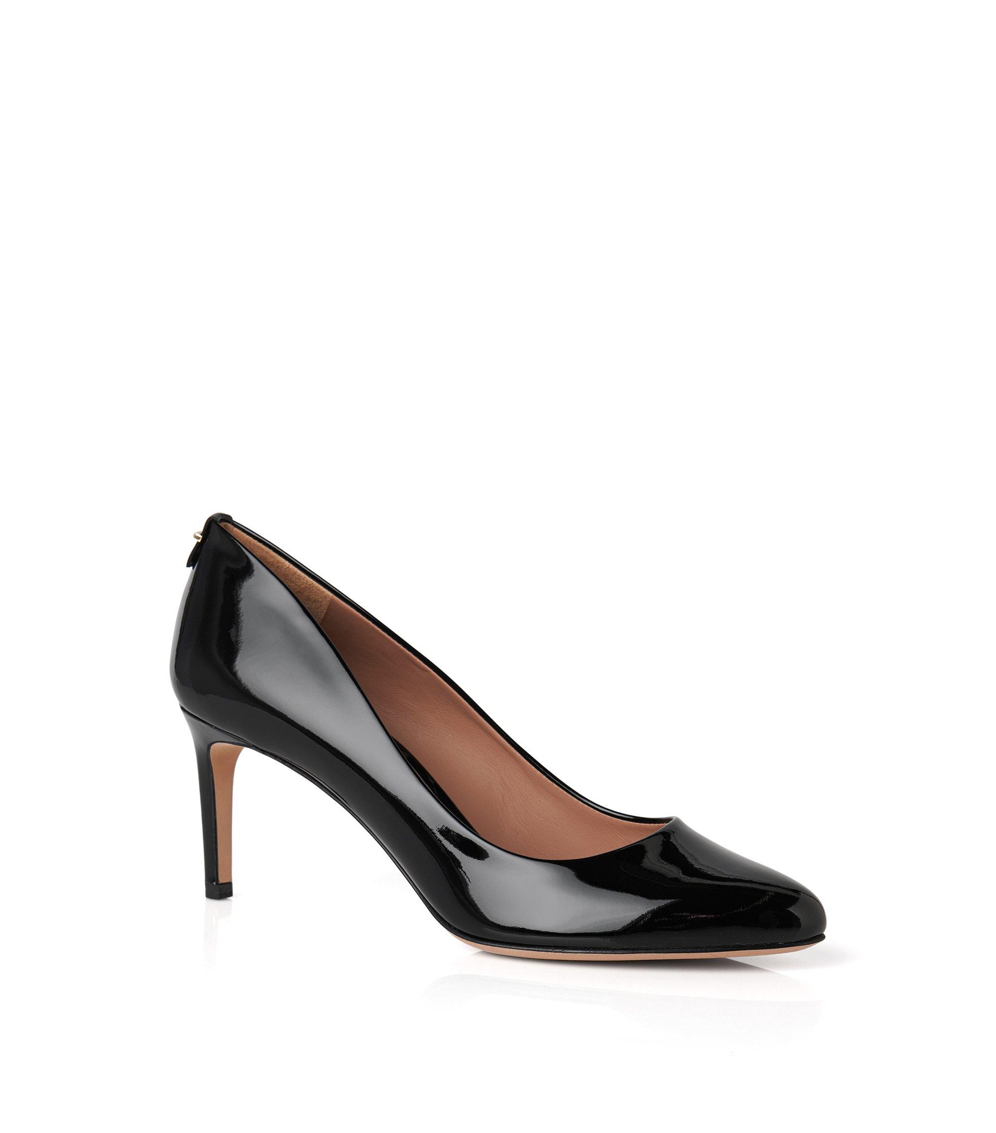 Escarpins BOSS Luxury Staple en cuir italien verni , Noir