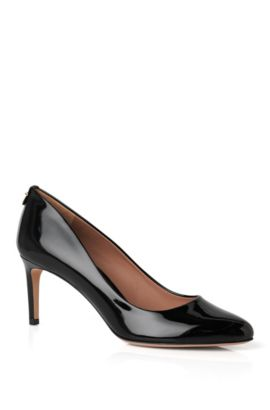 Escarpins BOSS Luxury Staple en cuir italien verni , Noir
