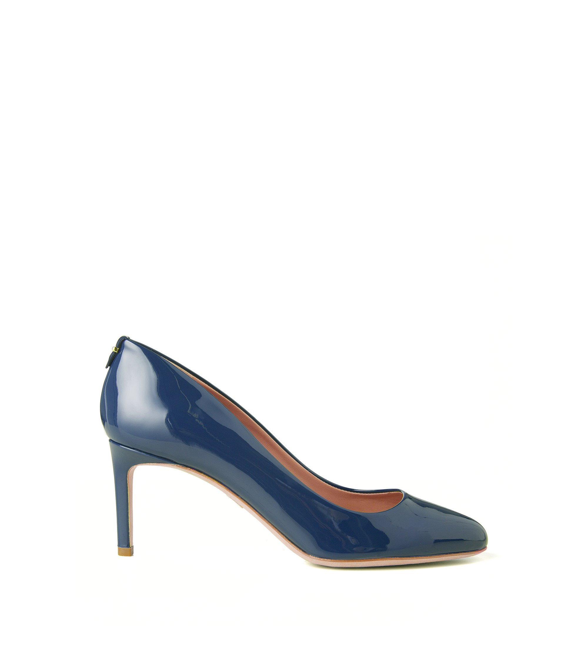 BOSS Luxury Staple pumps in Italian patent leather , Dark Blue