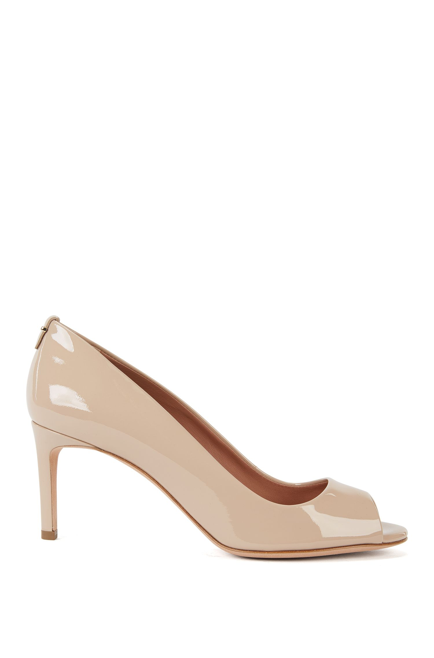 Pumps uit de Luxury Staple-collectie van BOSS, van Italiaans lakleer met open neus