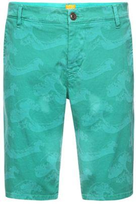 Slim-Fit Bermuda-Shorts aus Baumwoll-Mix: ´Sairy8-Shorts-D`, Gemustert