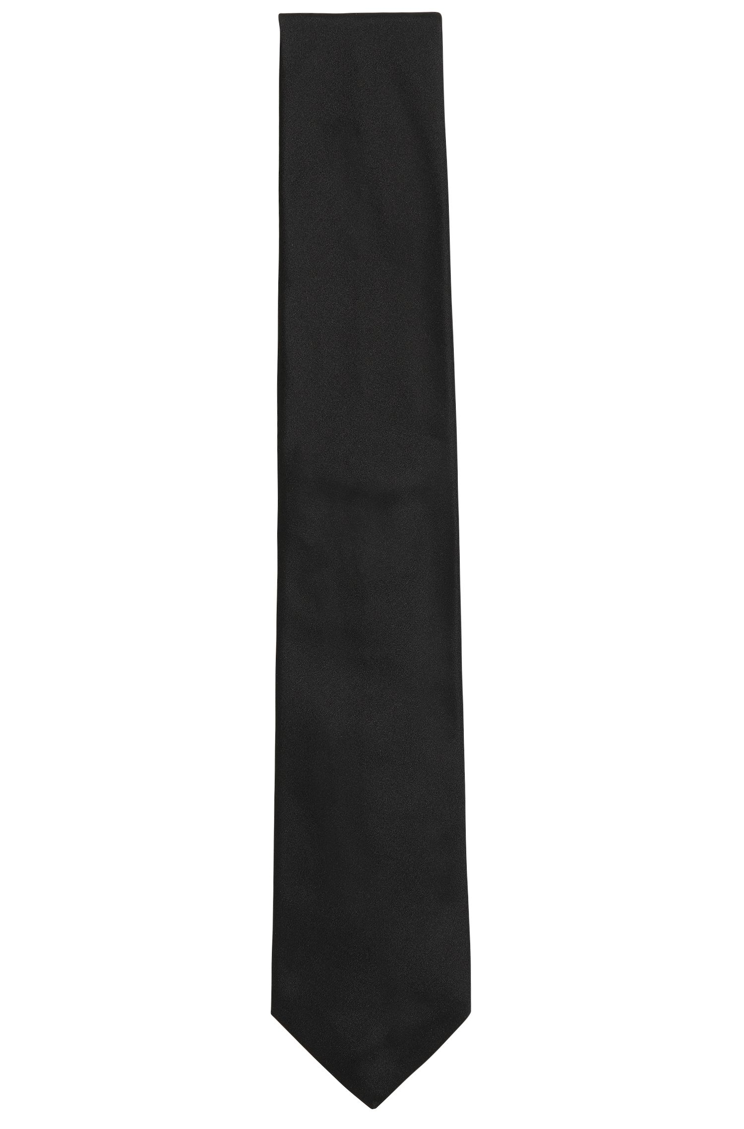 Italian-made tie in pure silk, Black