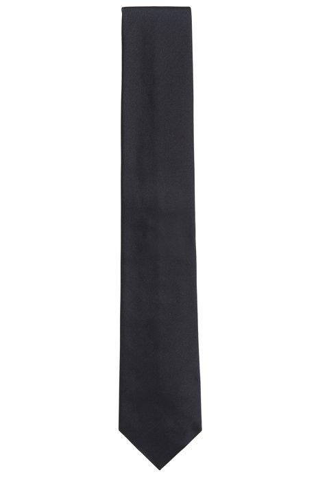 Italian-made tie in pure silk, Grey