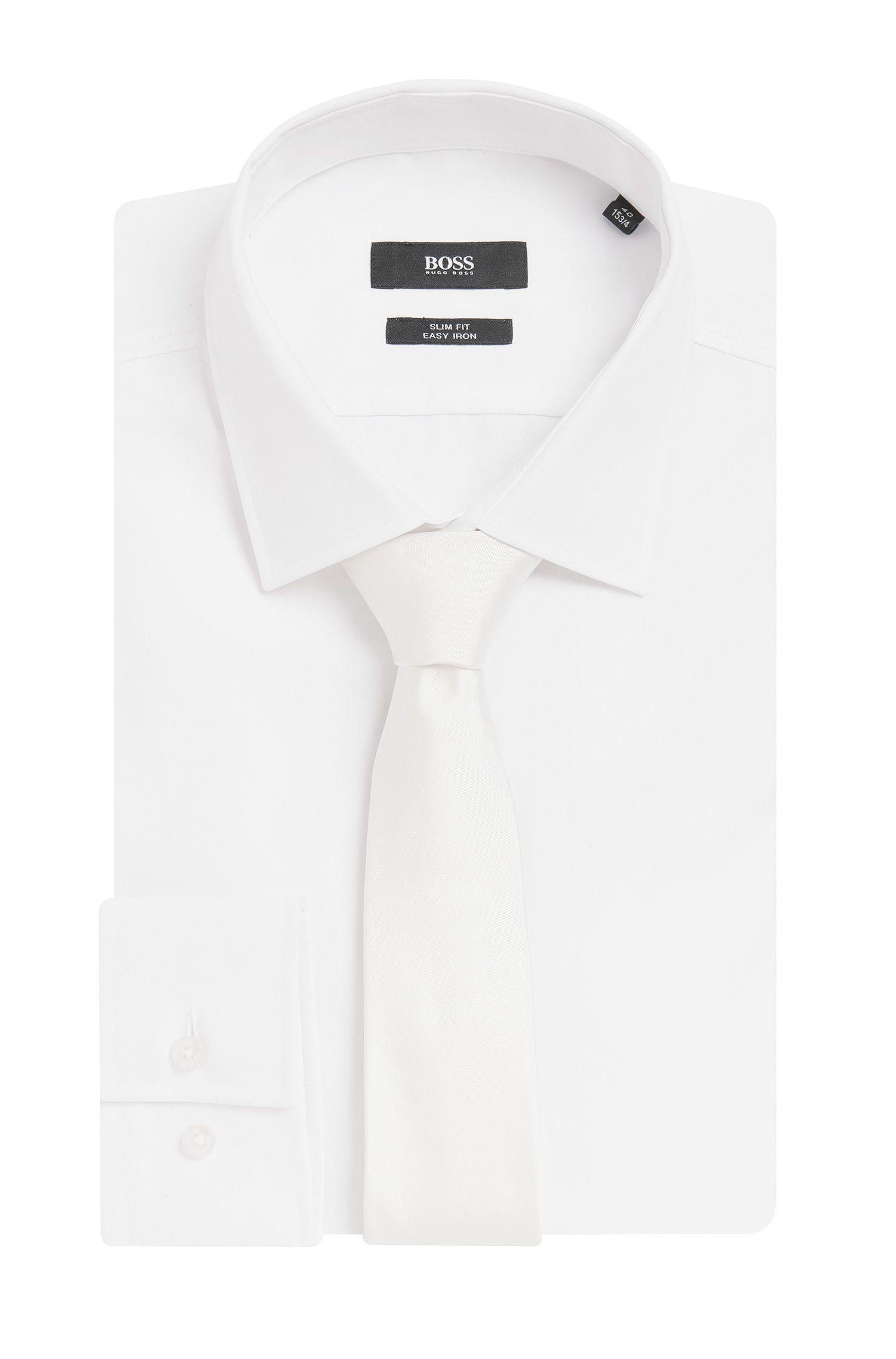 Jacquard-Krawatte aus reiner Seide, Weiß