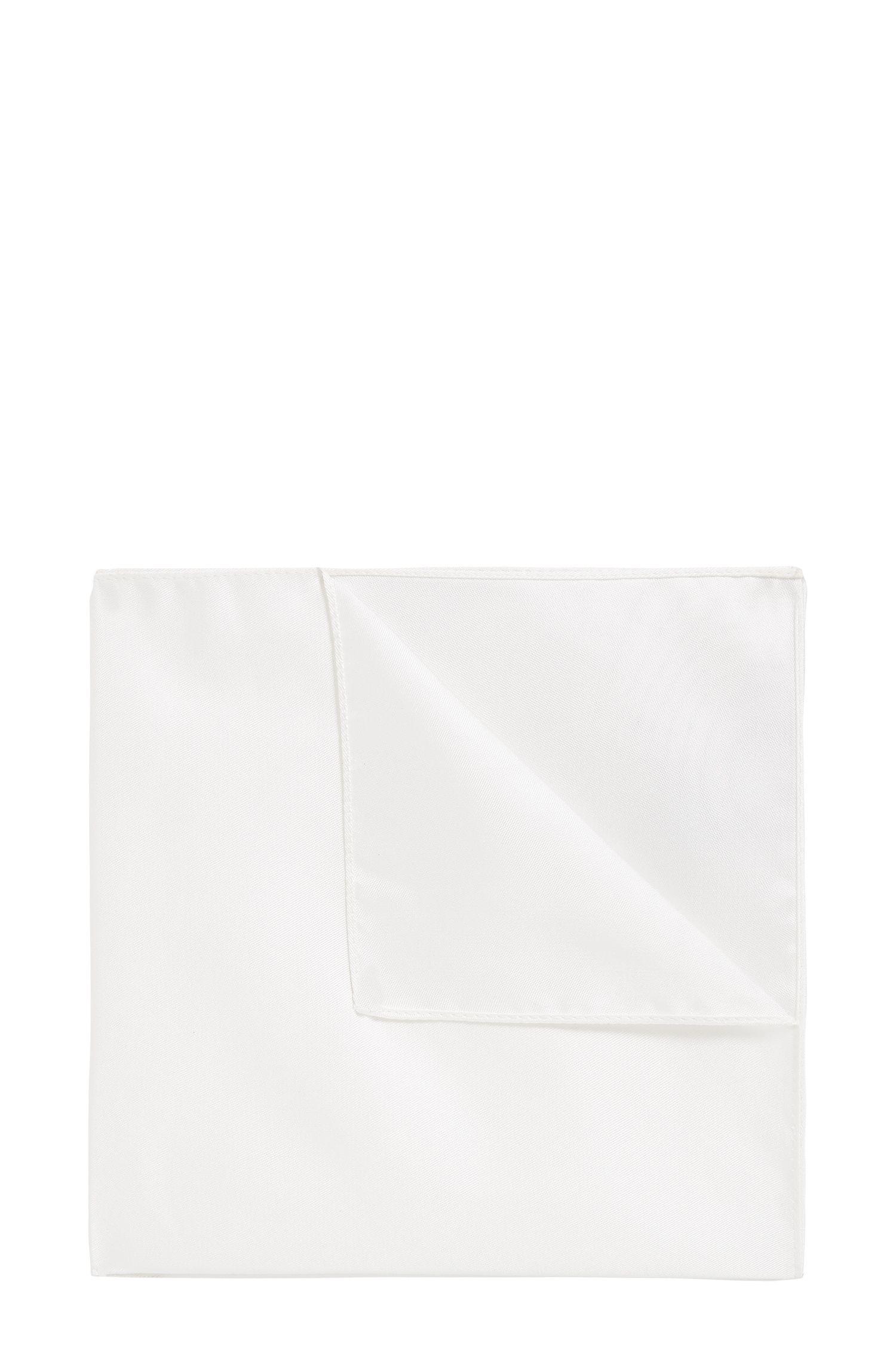 Pañuelo de bolsillo de jacquard en pura seda