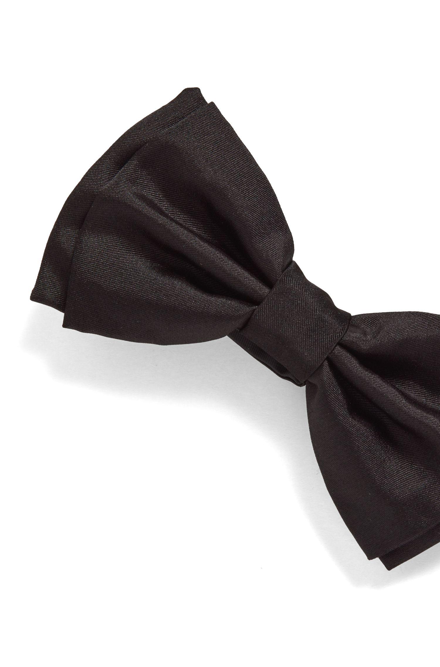 In Italien gefertigte Fliege aus reiner Seide, Schwarz