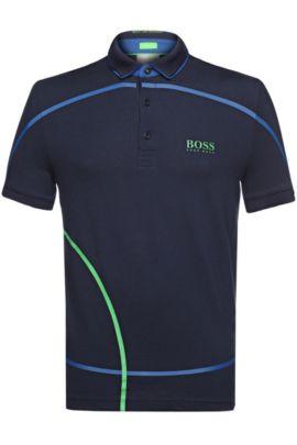 Polo Regular Fit en maille piquée fonctionnelle: «PaddyMK», Bleu foncé