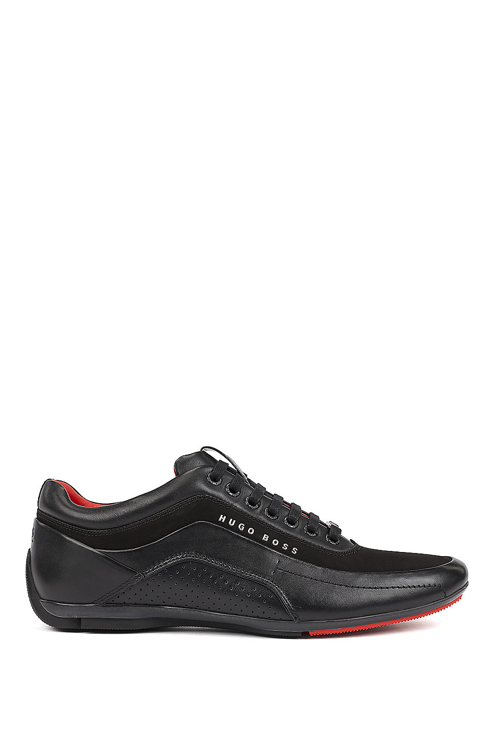 2019 wholesale price top quality clearance sale BOSS - Trainers in leather and carbon fibre