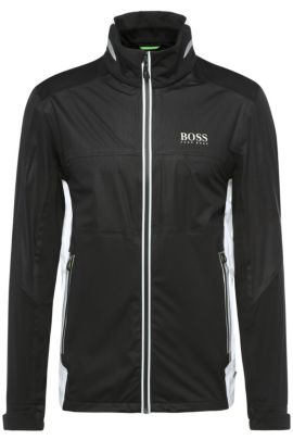 Golf jacket in functional fabric: 'Jalay Pro1', Black