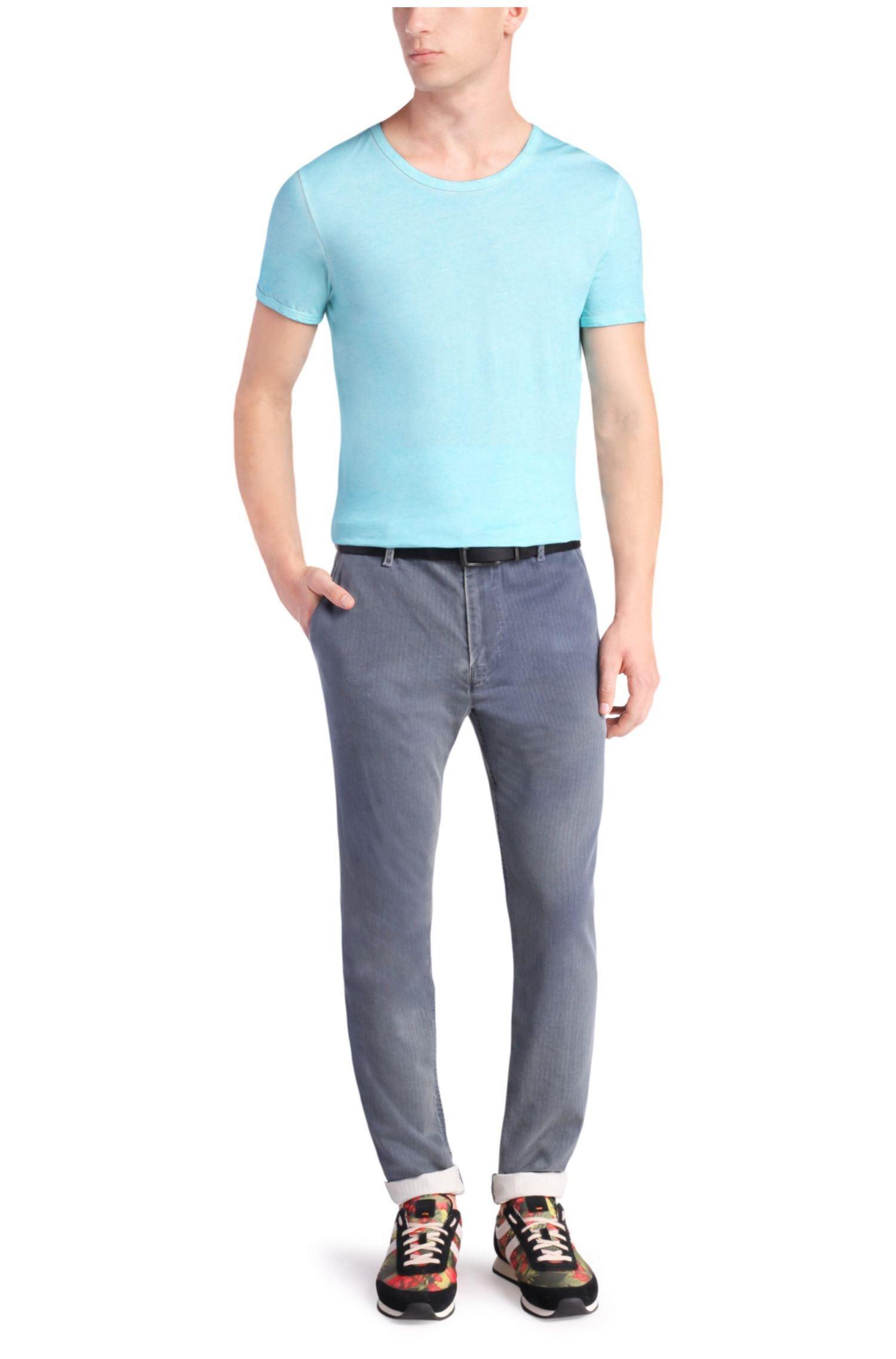 Chino Tapered Fit en coton structuré : « Sandrew2-W »