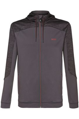 Regular-Fit Sweatshirt-Jacke mit Kapuze: ´Saggytech`, Anthrazit