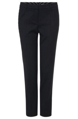 Comfort-fit broek van scheerwol met stretch: 'Tiluna5', Donkerblauw