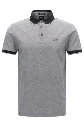 Regular-Fit Poloshirt aus veredelter Baumwolle: 'Prout 01', Schwarz