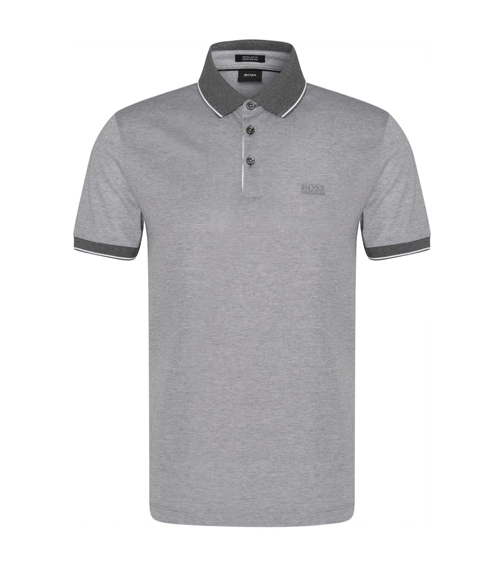 Regular-Fit Poloshirt aus veredelter Baumwolle: 'Prout 01', Grau
