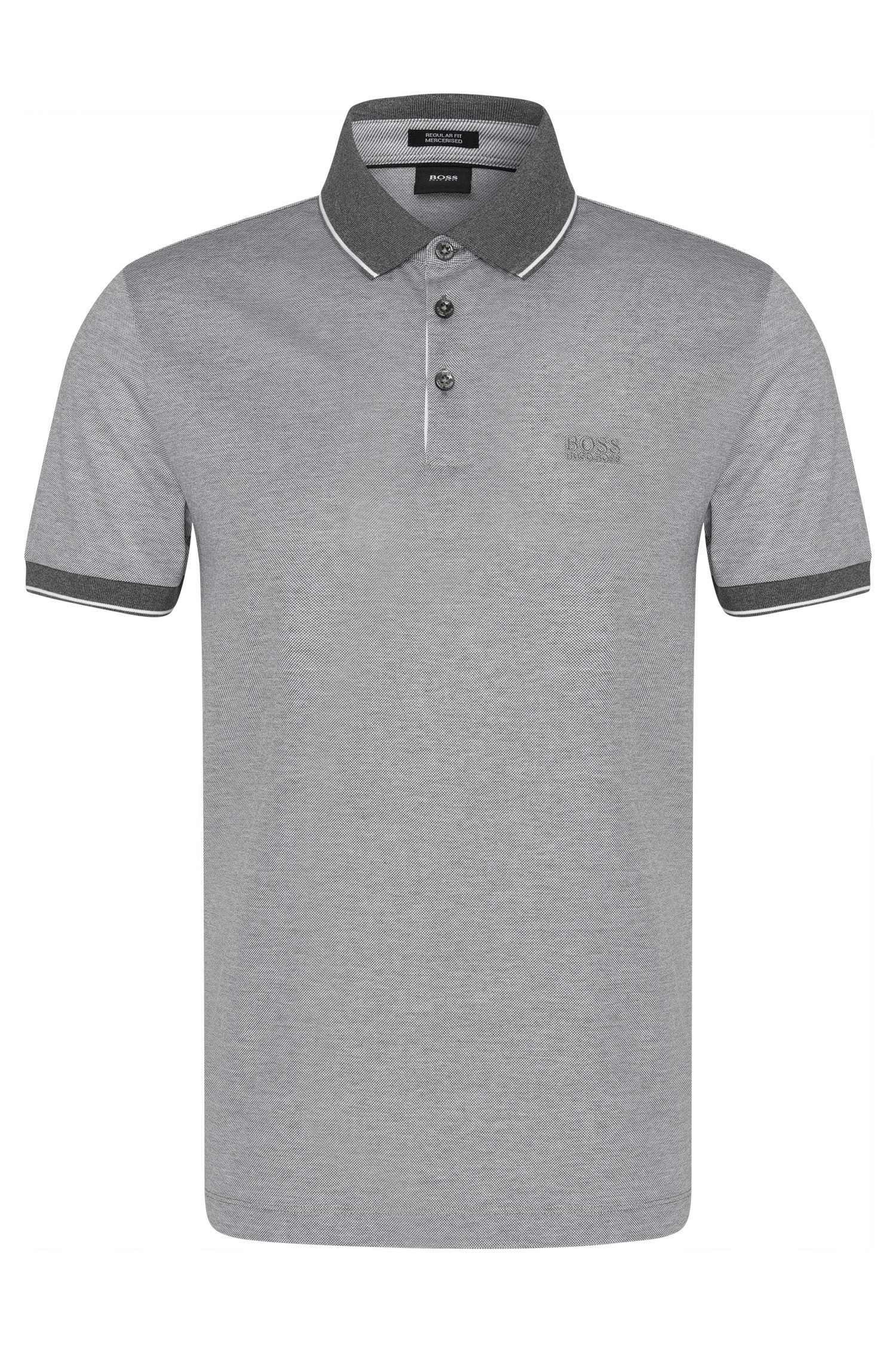 Regular-fit polo shirt in refined cotton: 'Prout 01'