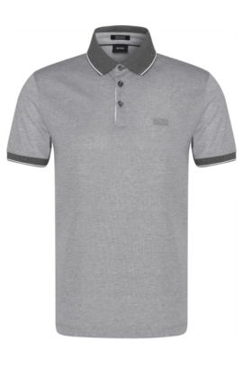 Polo Regular Fit en coton raffiné : « Prout 01 », Gris