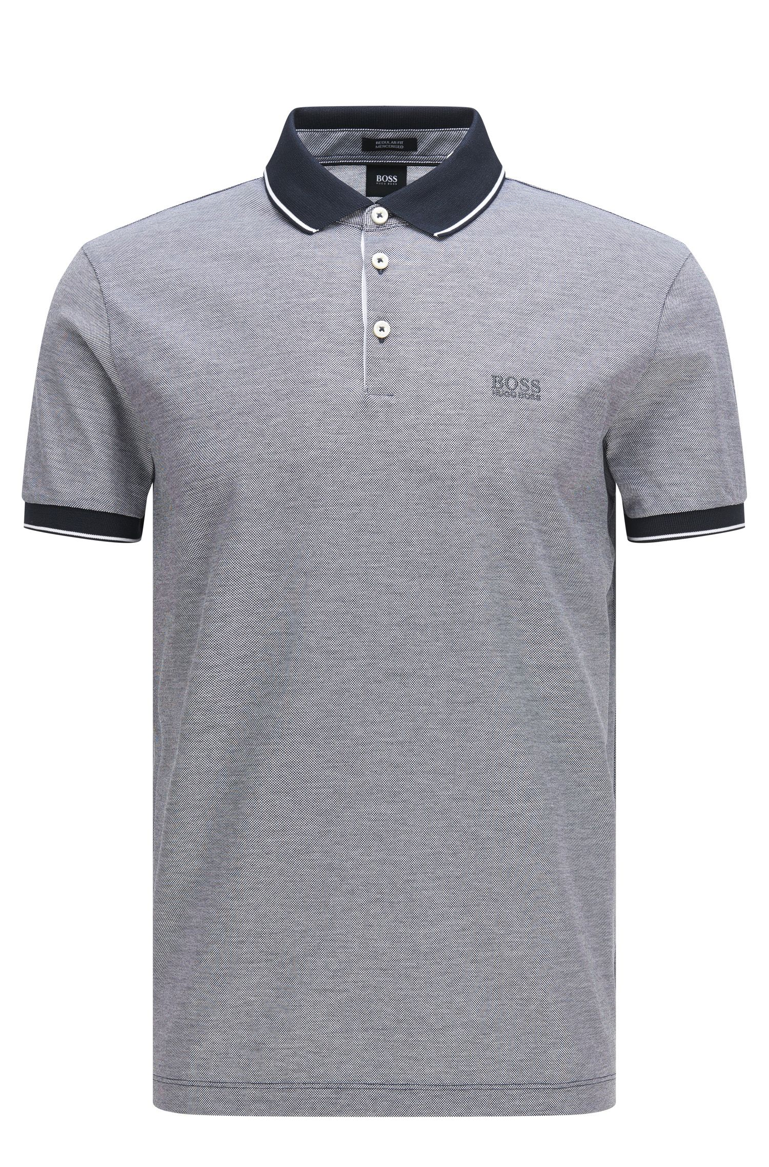 Polo regular fit in cotone nobilitato: 'Prout 01'