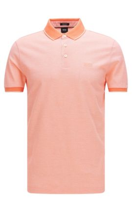 Regular-fit polo shirt in refined cotton: 'Prout 01', Open Red