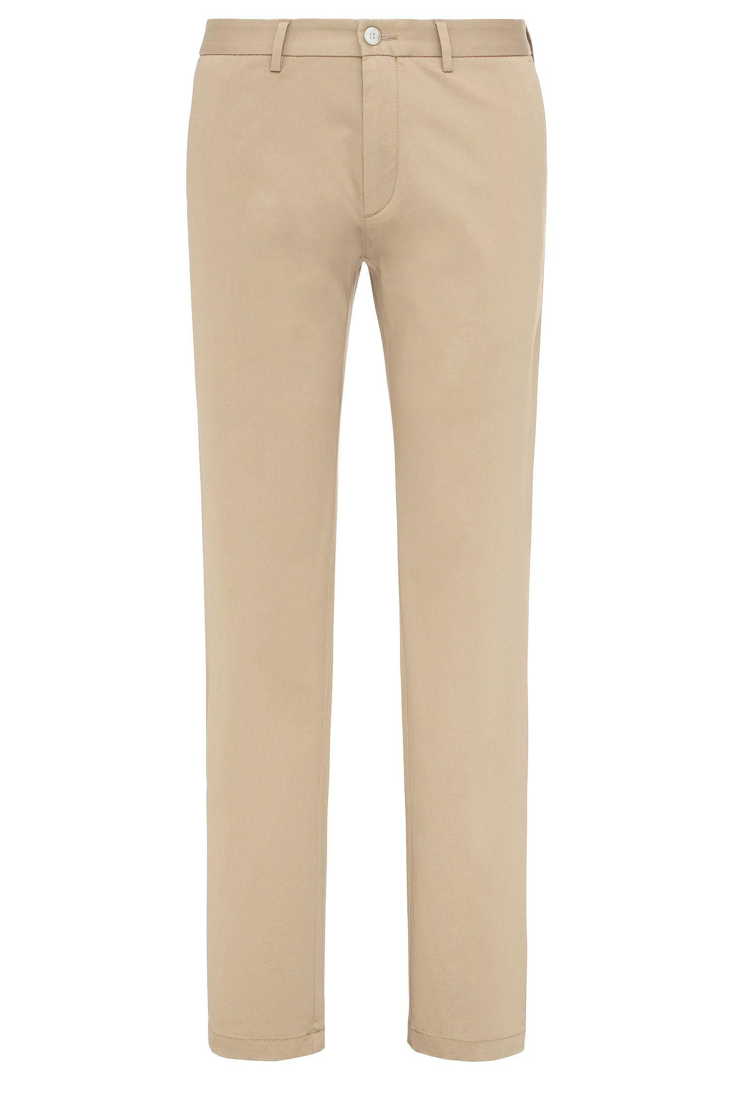 Pantalon Regular Fit en coton extensible: «C-Crigan2-15-W»