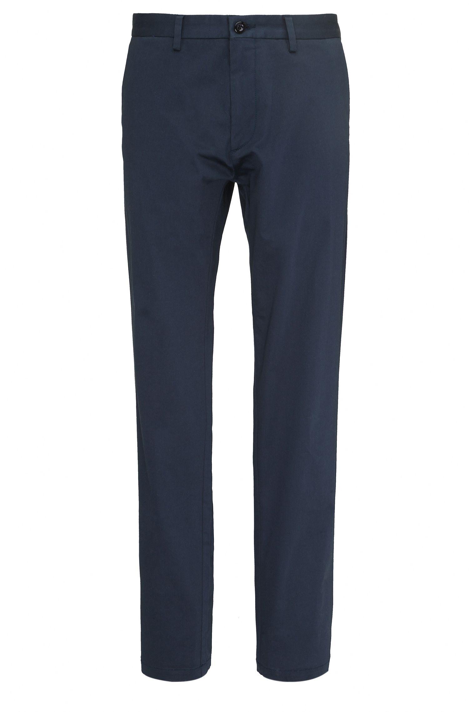 Regular-fit broek van elastische katoen: 'C-Crigan2-15-W'