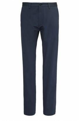 Pantalón regular fit en algodón elástico: 'C-Crigan2-15-W', Azul oscuro