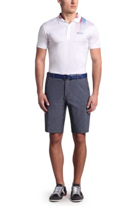 Regular-fit golfshort: 'Hiem', Donkerblauw