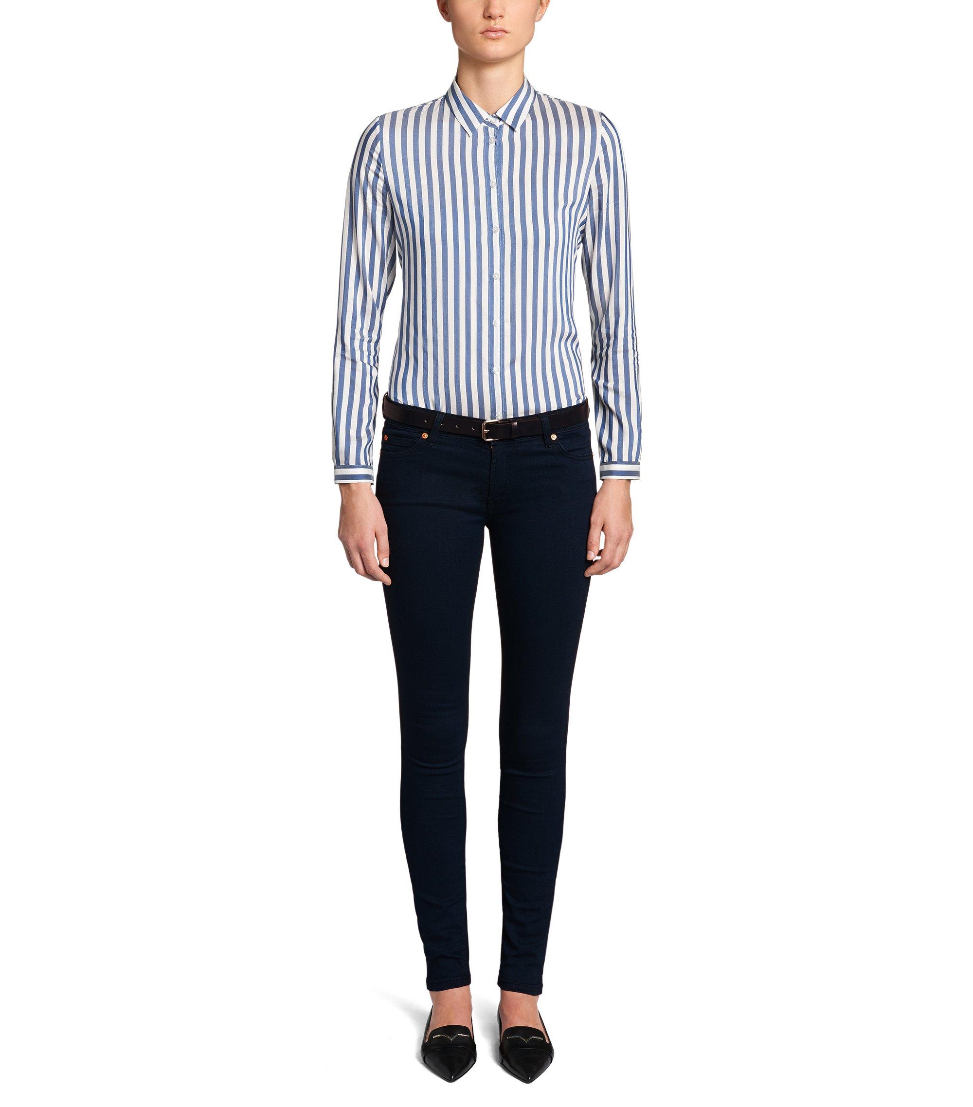 Extra Slim-Fit Jeans aus Baumwoll-Mix: 'Georgina', Dunkelblau