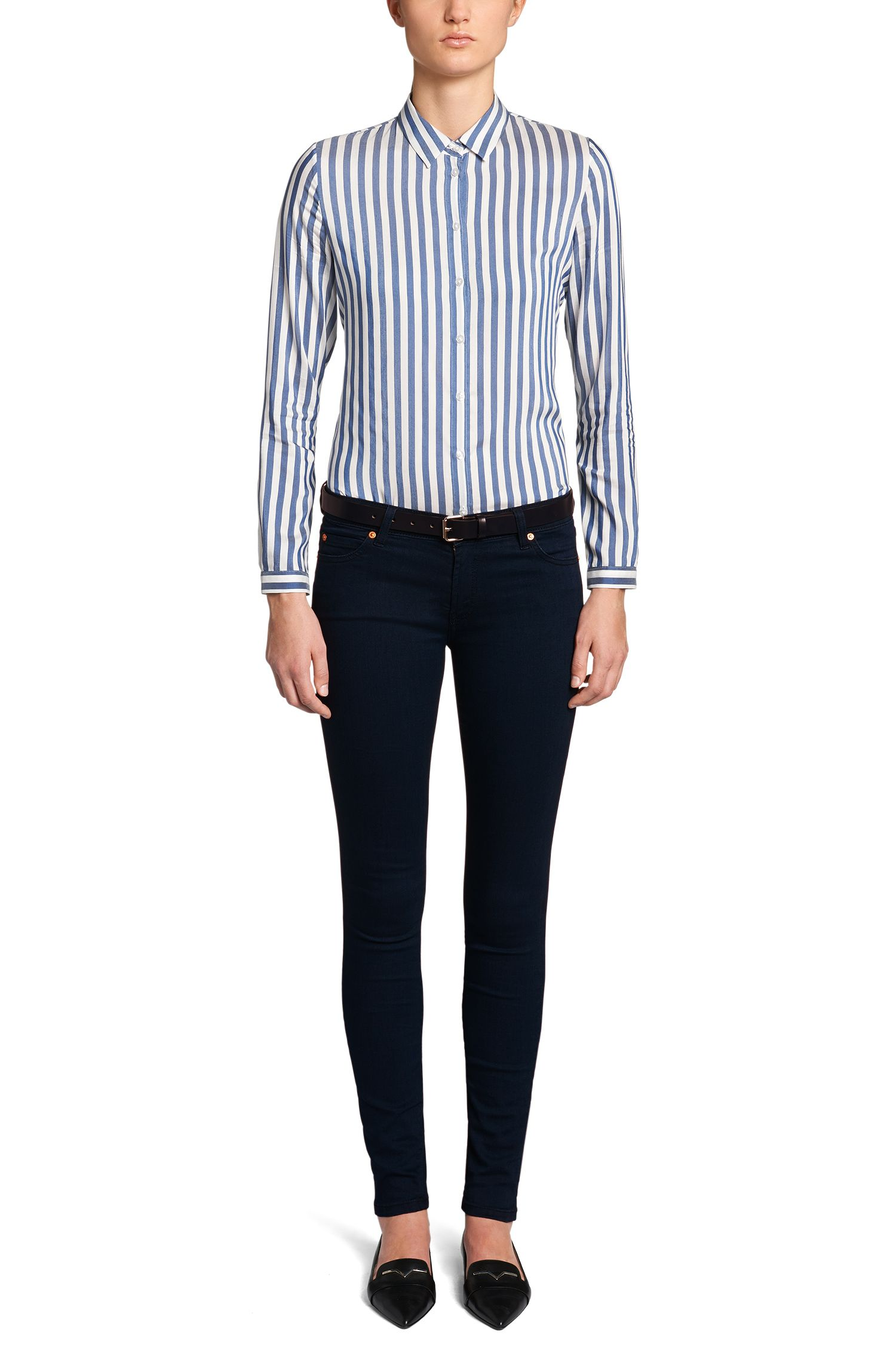 Extra slim-fit jeans van een katoenmix: 'Georgina'
