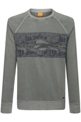 Sweatshirt aus Baumwoll-Mix: ´Whyoming`, Dunkelgrau