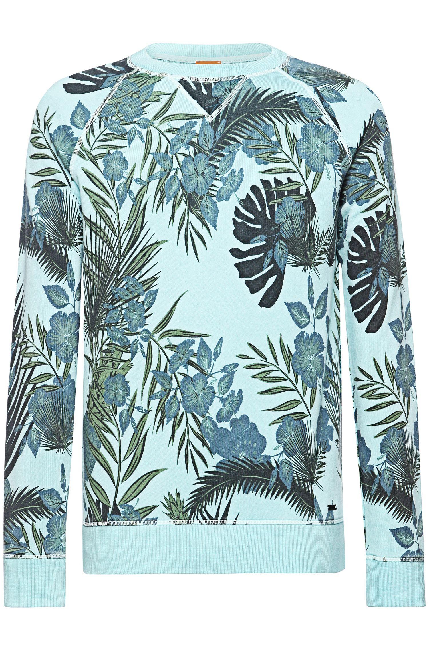 Sweatshirt van badstof met dessin: 'Wilmore'