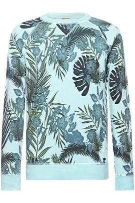 Sweatshirt van badstof met dessin: 'Wilmore', Turkoois