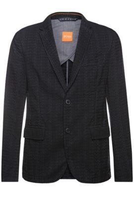 Veste de costume ornée de lignes structurées: «Bentex-D», Noir
