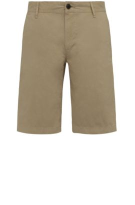 Regular-fit short van katoen: 'Schino-Regular-Short', Beige