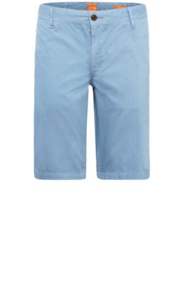 Short Regular Fit en coton : « Schino-Regular-Short », Bleu vif