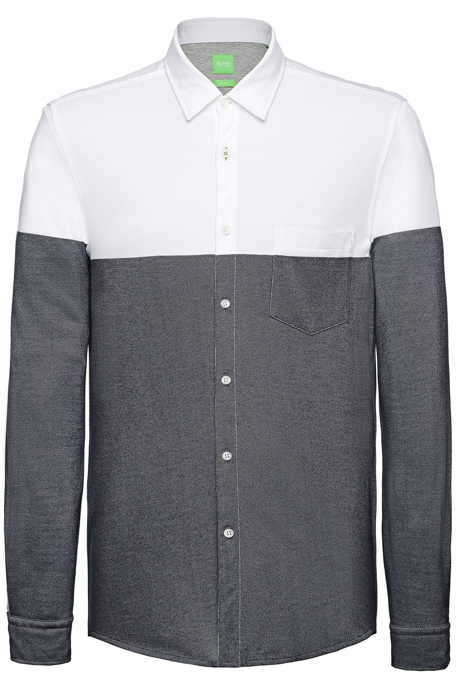 Slim-Fit Freizeit-Hemd aus Baumwolle: ´Bonro`