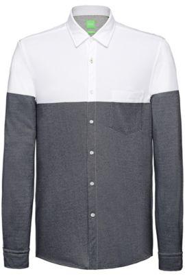 Slim-Fit Freizeit-Hemd aus Baumwolle: ´Bonro`, Dunkelblau