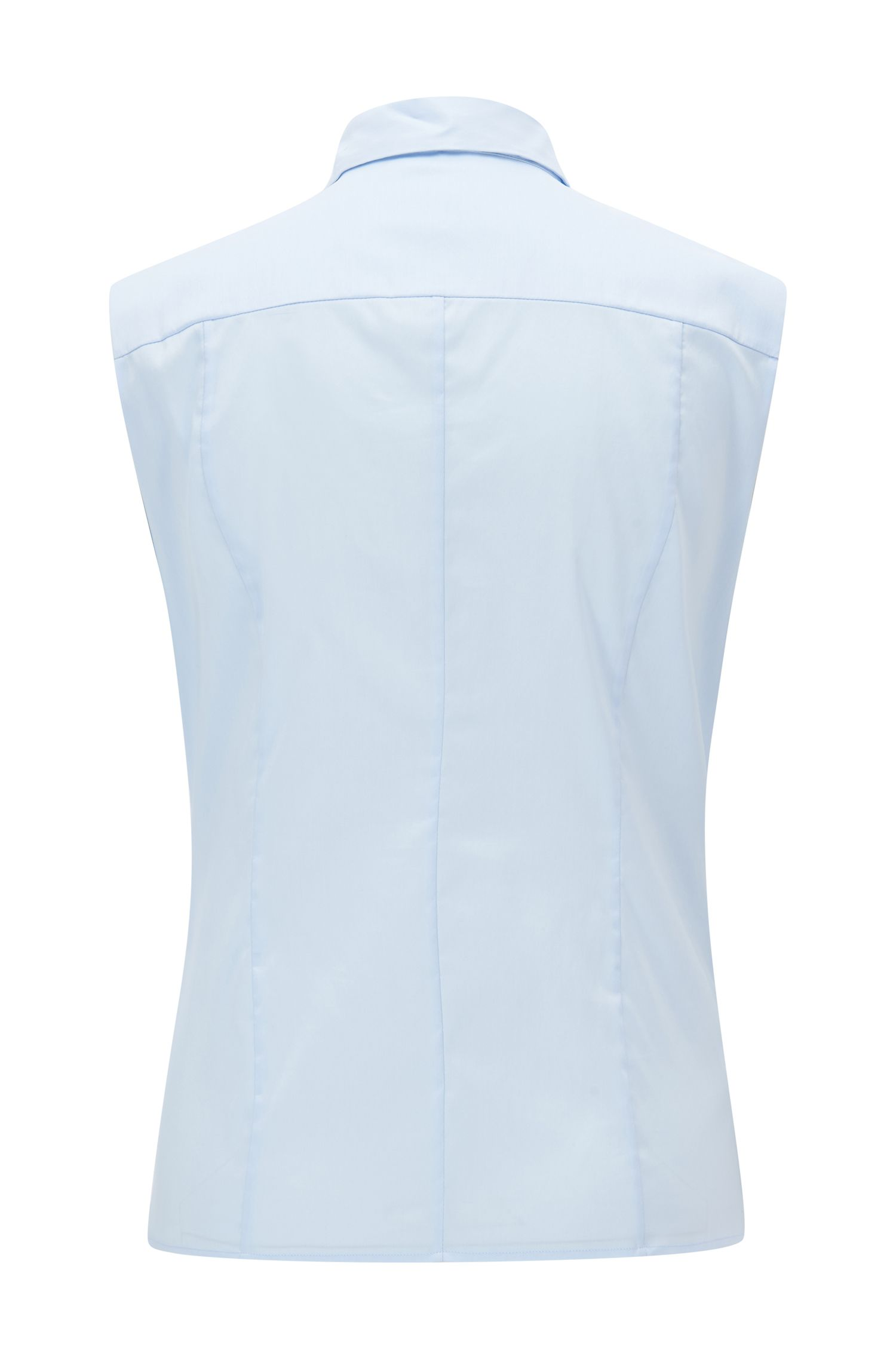 Slim-fit sleeveless blouse in a cotton blend