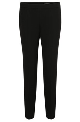 Regular-fit trousers in stretch fabric, Black