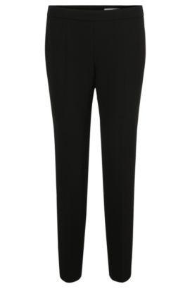 Regular-Fit Hose aus elastischem Material-Mix mit Baumwolle, Schwarz