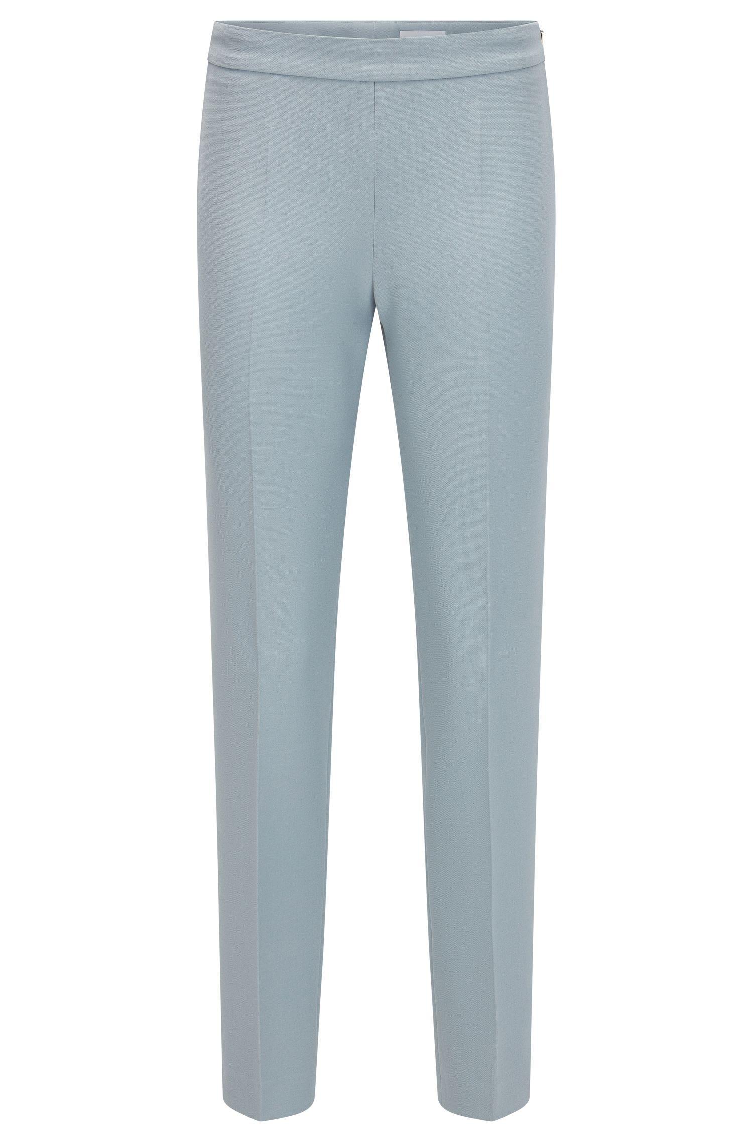 Pantaloni regular fit in tessuto elastico