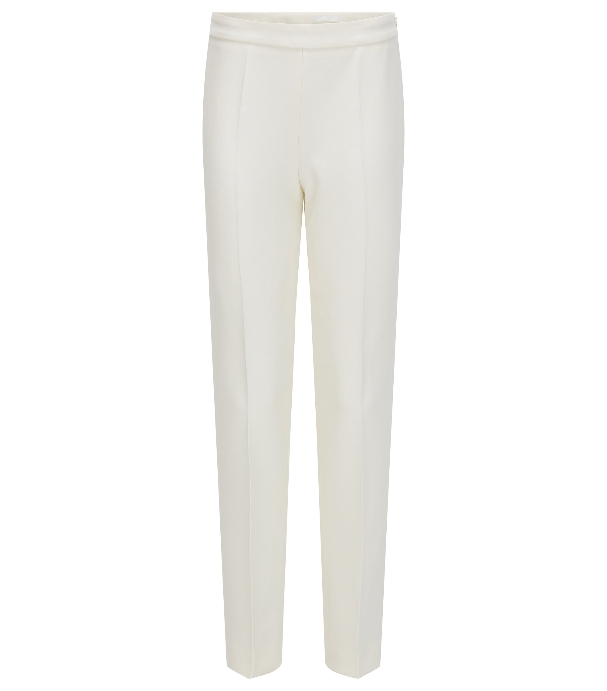 Regular-fit broek van stretchmateriaal, Naturel
