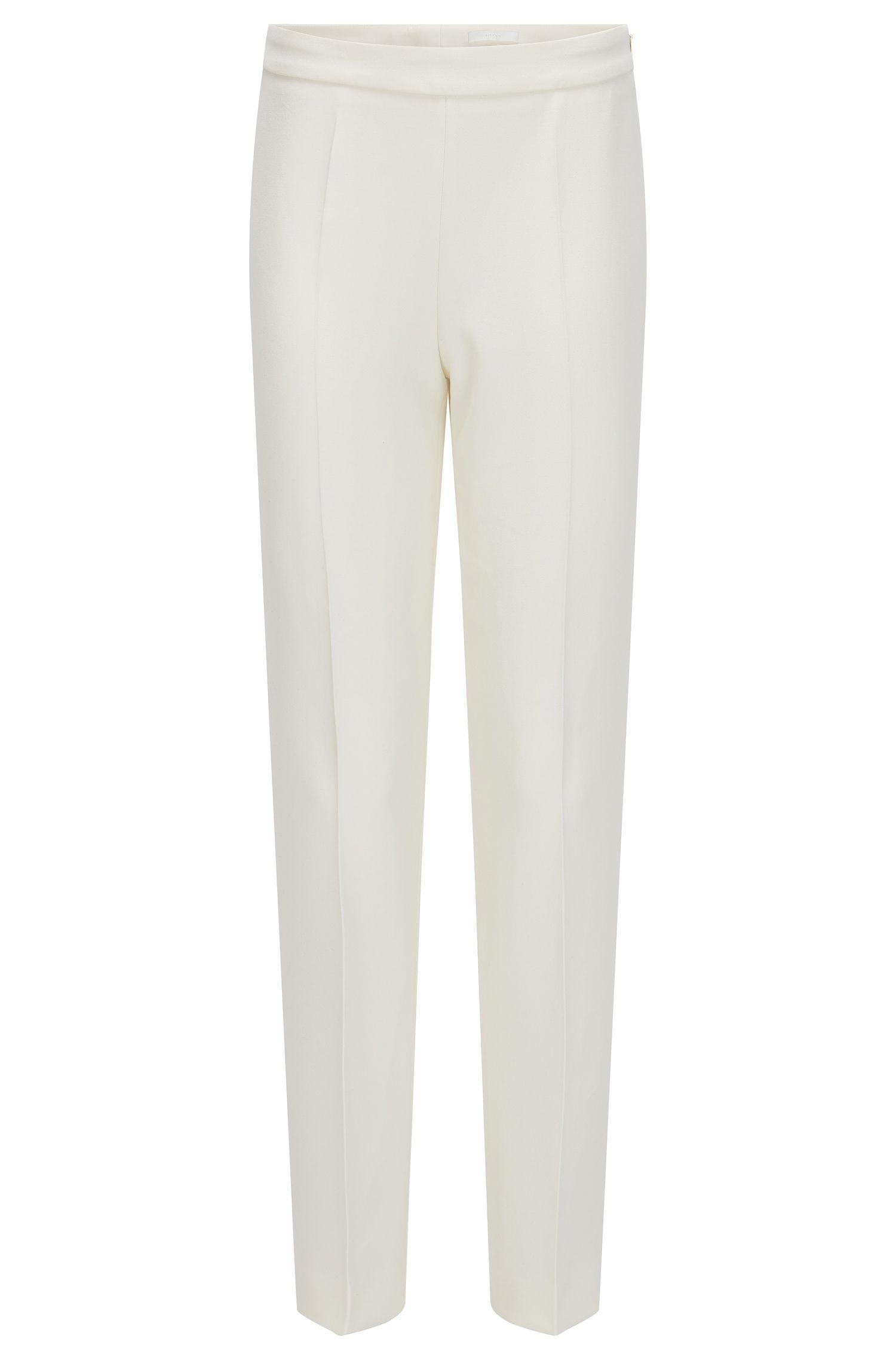 Regular-fit trousers in stretch fabric