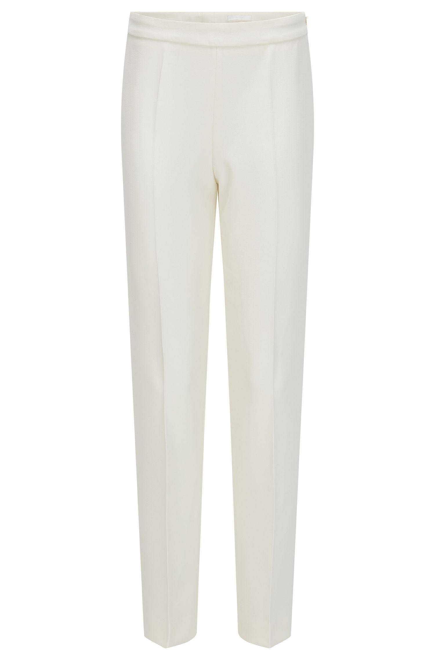 Regular-fit trousers in stretch fabric