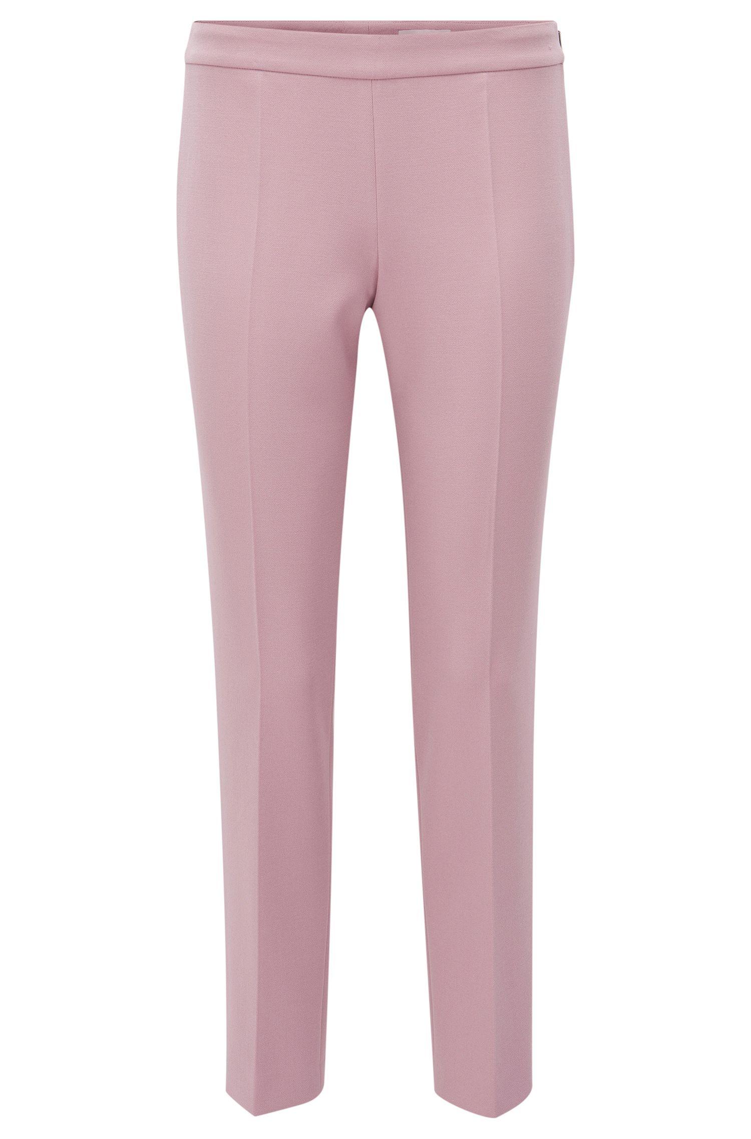 Pantalón regular fit en tejido elástico