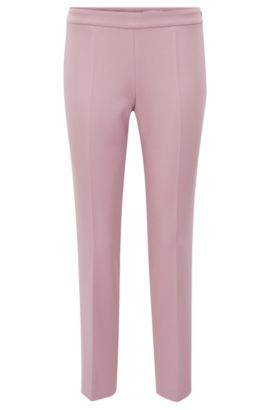 Pantalon Regular Fit en tissu stretch, Lilas