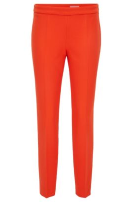Regular-fit trousers in stretch fabric, Red
